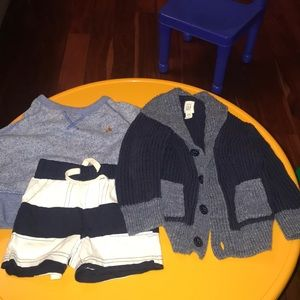 Gap sweater and shorts 6-12monthe